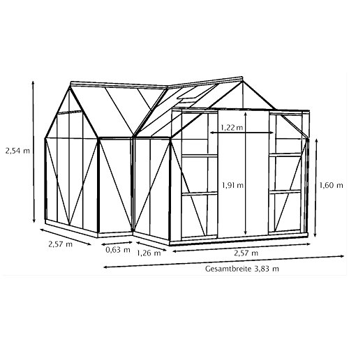 alu gew chshaus sirius esg gr n wintergarten 13 m. Black Bedroom Furniture Sets. Home Design Ideas