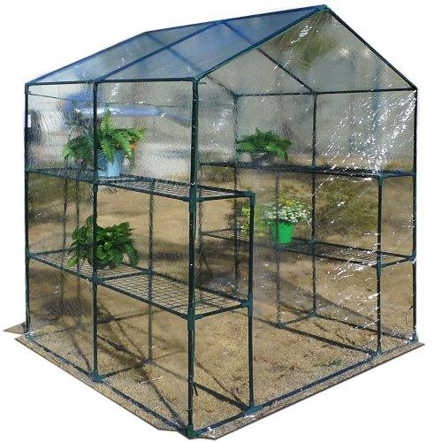 foliengew chshaus transparent mit 2 regalen f r an und. Black Bedroom Furniture Sets. Home Design Ideas