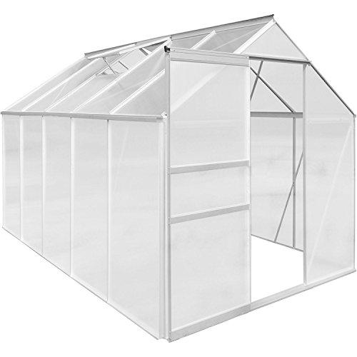 plantasia alu gew chshaus 6 mm hohlkammerplatten kompletteindeckung gr enauswahl 3 6m 4. Black Bedroom Furniture Sets. Home Design Ideas
